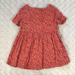 Old Navy Orange Floral Dress Open Back 2T